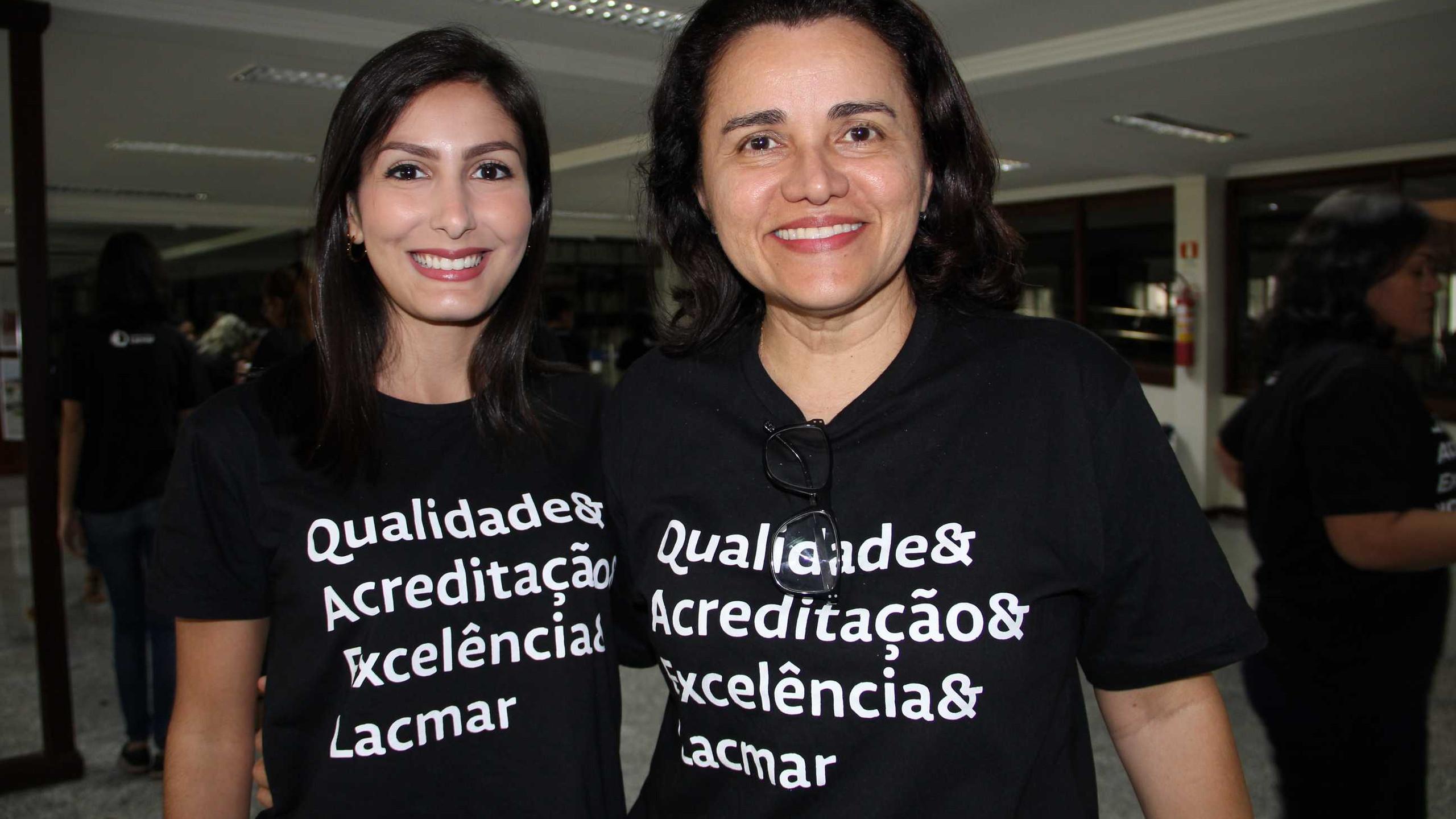 A Ger. de Qualidade do Lacmar Vivianne Lopes e a Ger. Adm. Suzana Viana.
