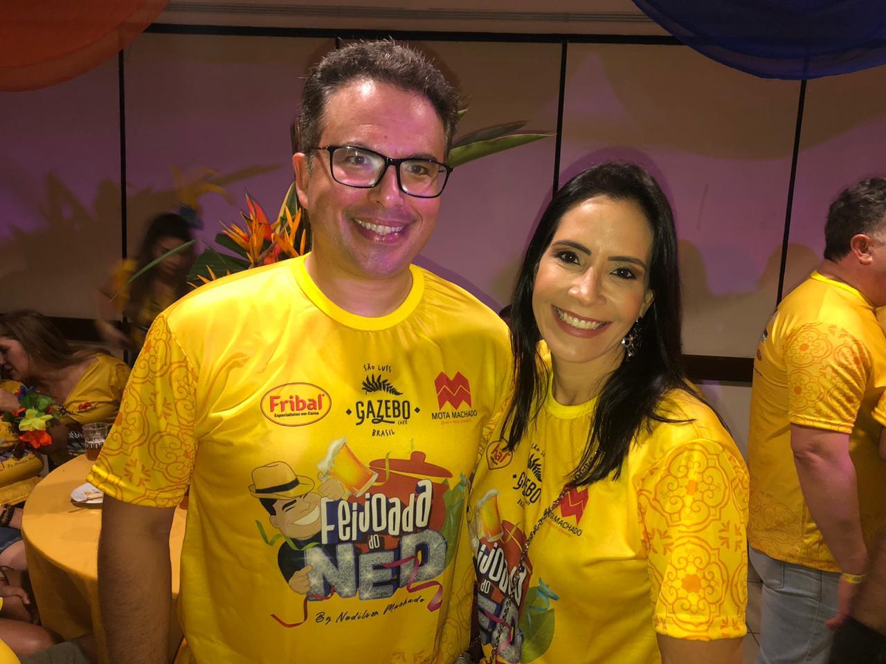 O Procurador do Estado e Advogado Daniel Blume e sua esposa Priscila.