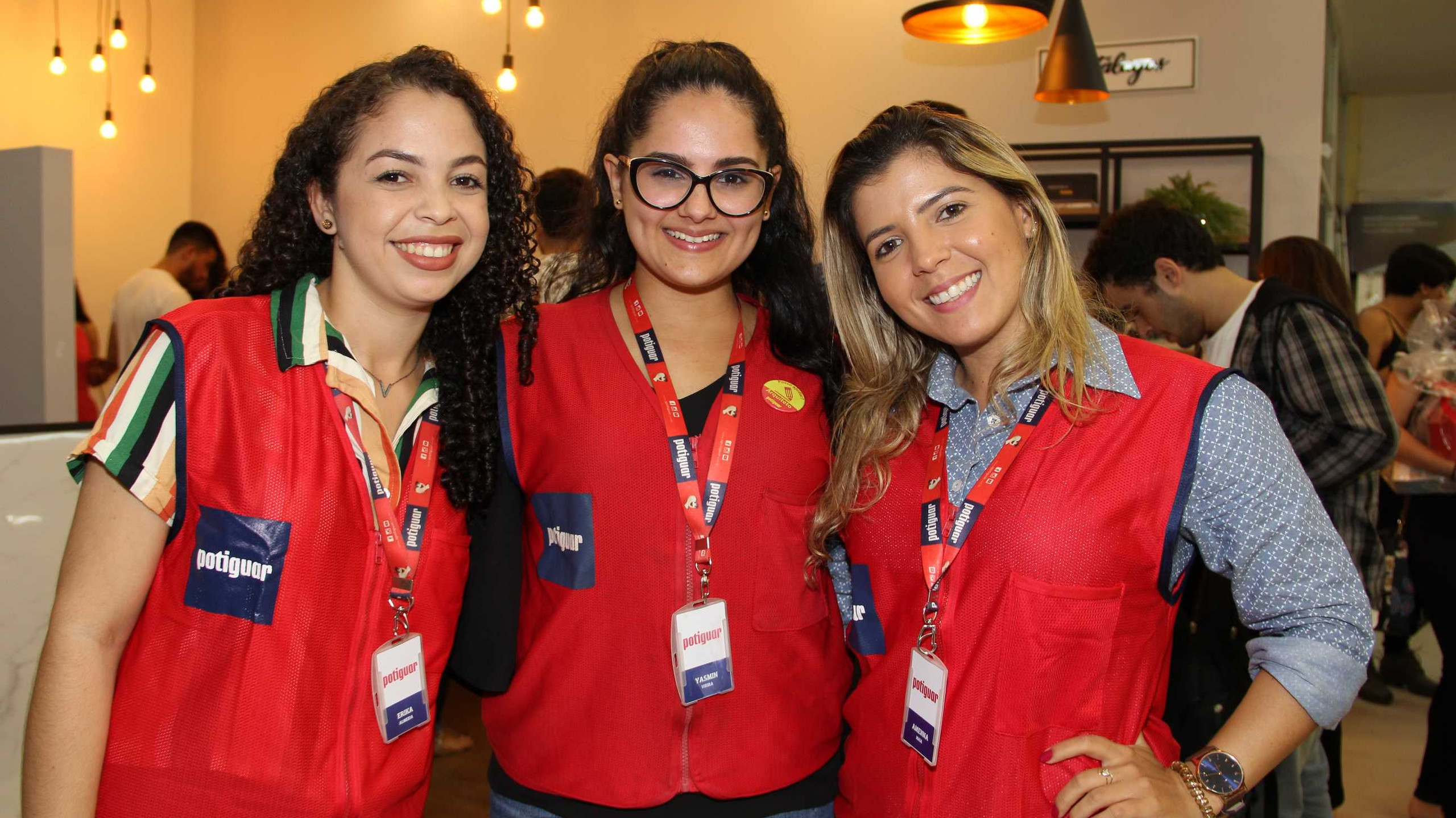 As arquitetas do Grupo Potiguar: Érika Azevedo, Yasmim Melo e Amenna Maia.