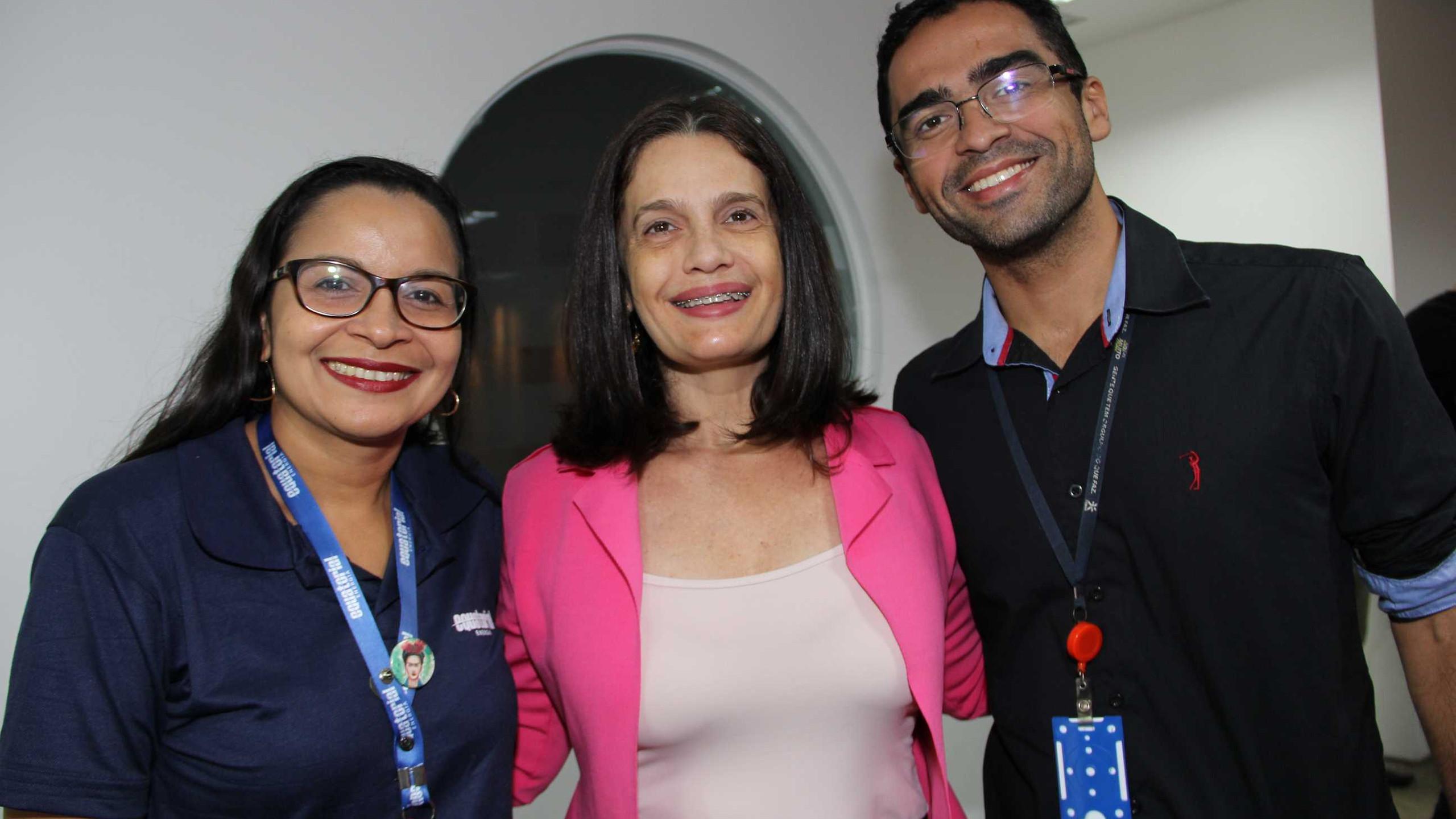 Jeane Pires, Ana Cristina lago (Comunique) e Danilo Fernandes.