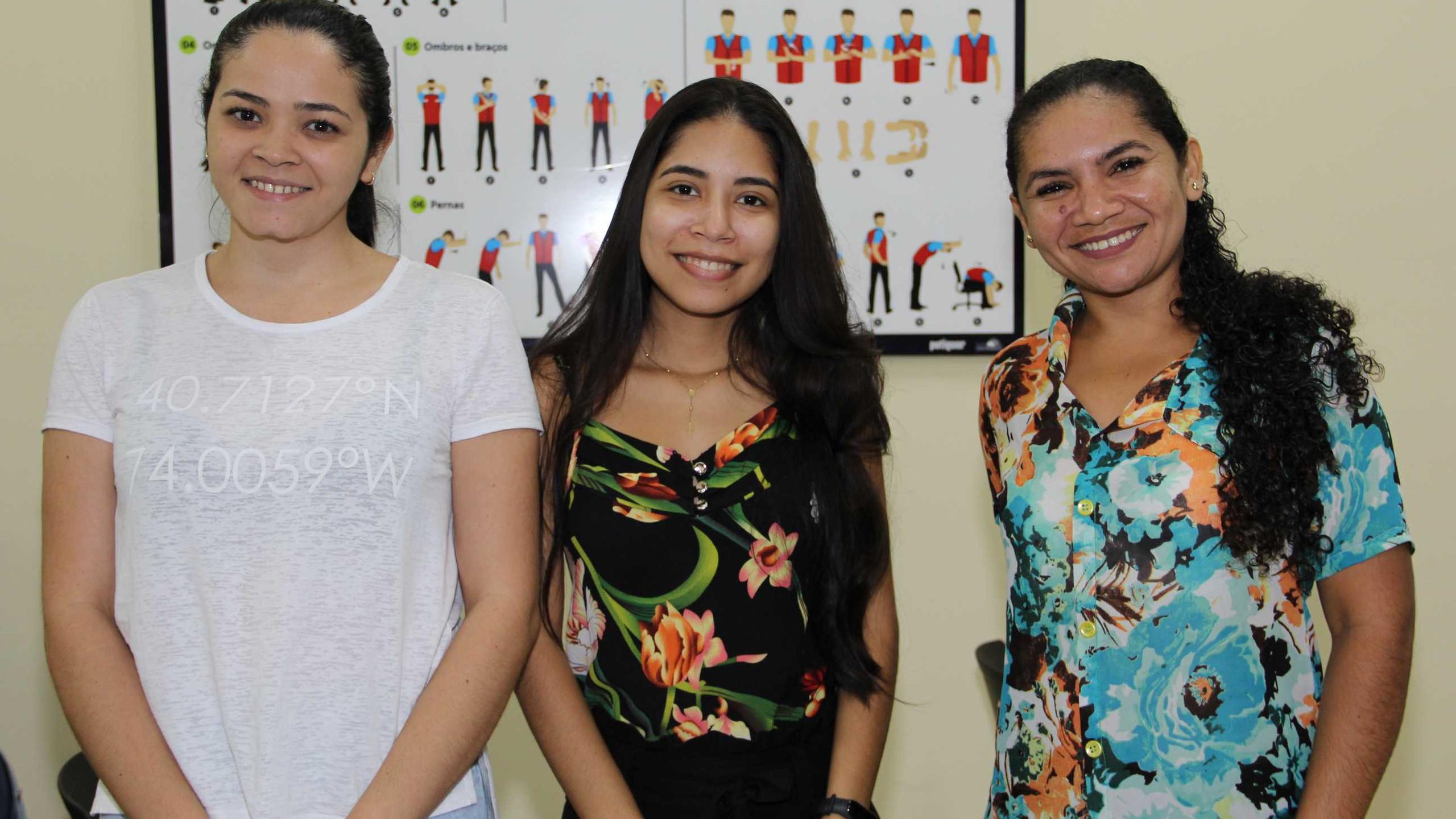 Cristiane Cunha, Maryluce Lima e Maria Nascimento.