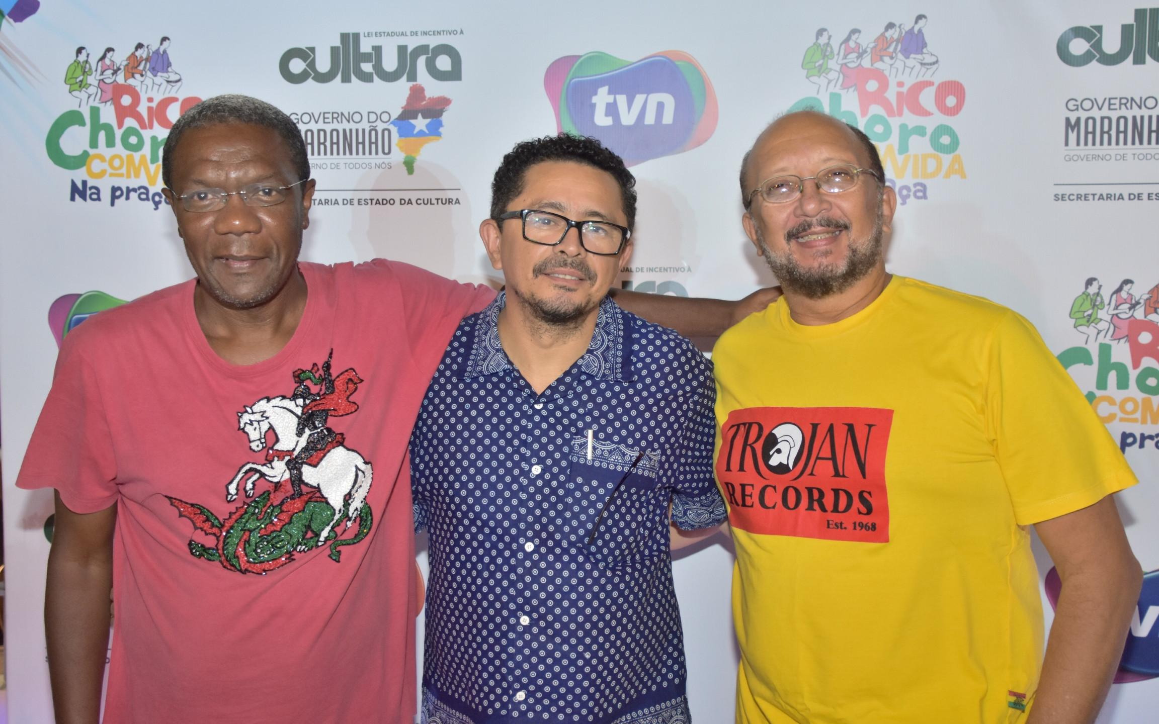 DJ Pedro Sobrinho, o produtor Ricarte Almeida Santos e o DJ Ademar Danilo.