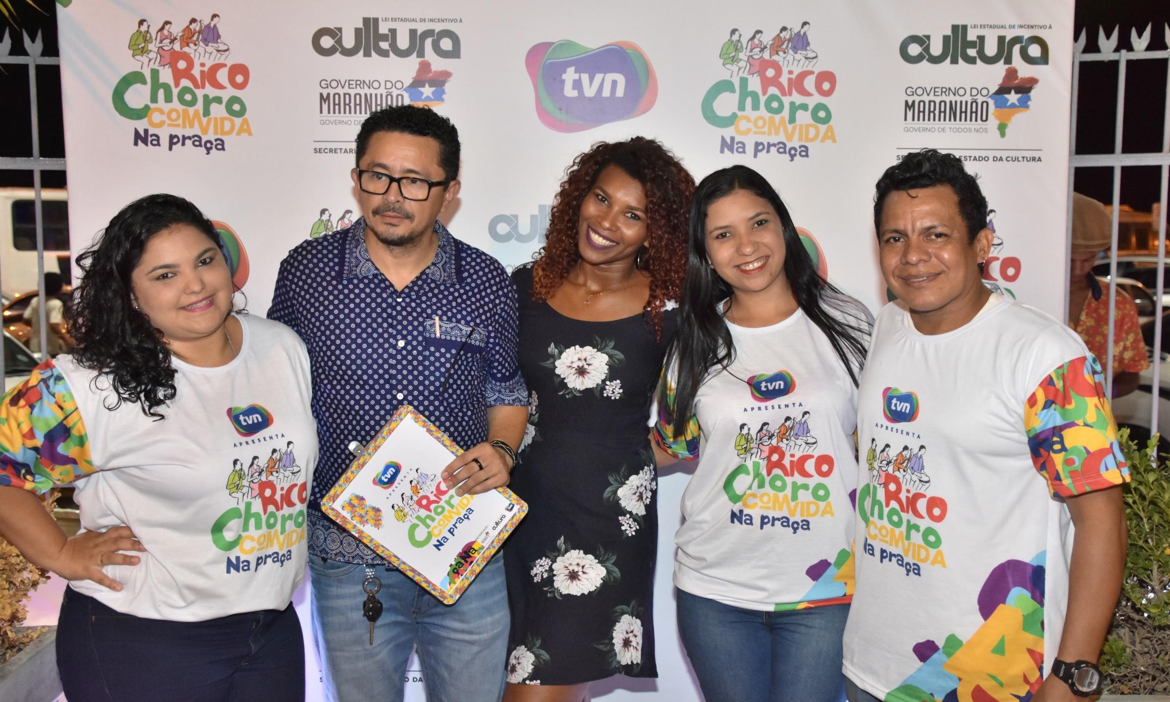 Dayrlene Penha, Ricarte Almeida Santos, Euricélia Coqueiro, Darliene Penha e Marcos Lussaray.