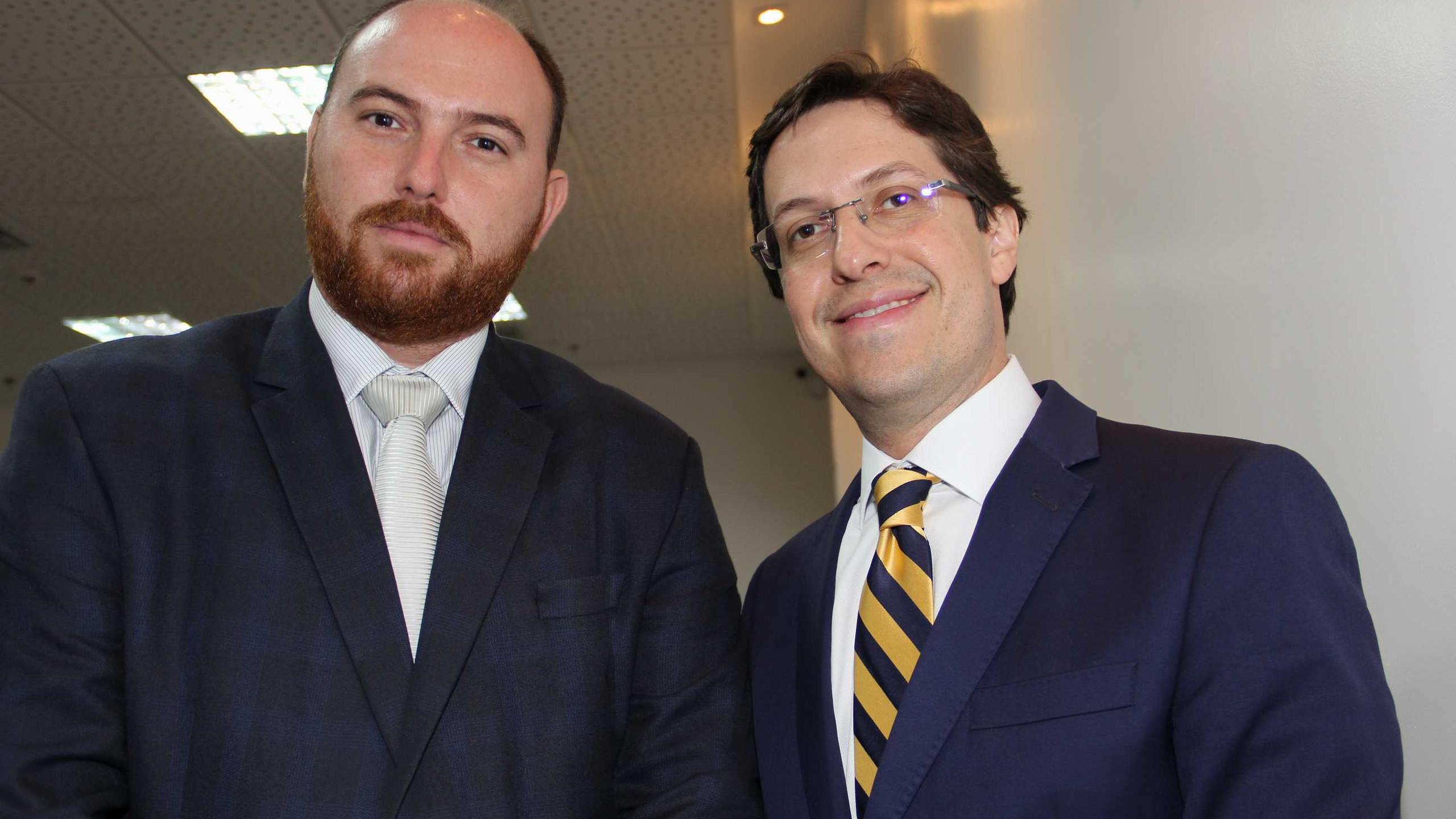 Mário Lobão (TJ) com o Ger Jurídico Davi Leal.