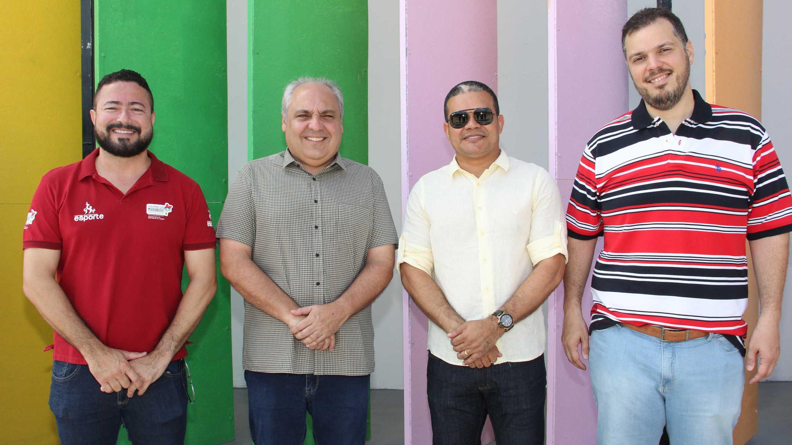 Leonardo Cordeiro (Pres. Lei Estadual de Incentivo); Marcelo Tavares (Sec. Casa Civil), Cel. Leite (Sec. Chefe Gab. Militar)  e Rodrigo Lago (Sec. Comunicação e Assuntos Políticos).