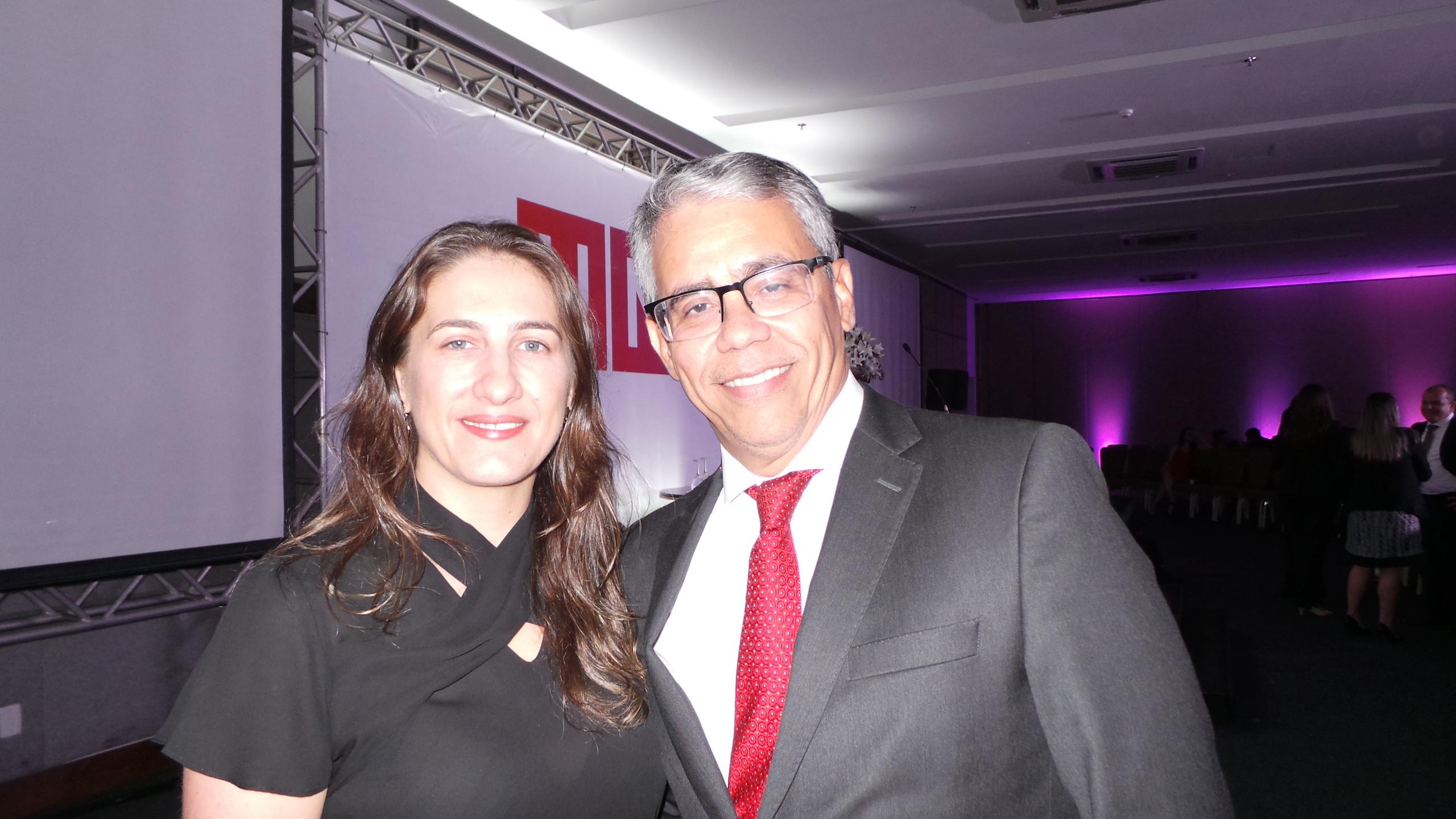 Daniele o o marido Des. Paulo Velten Pereira, palestrante da Jornada