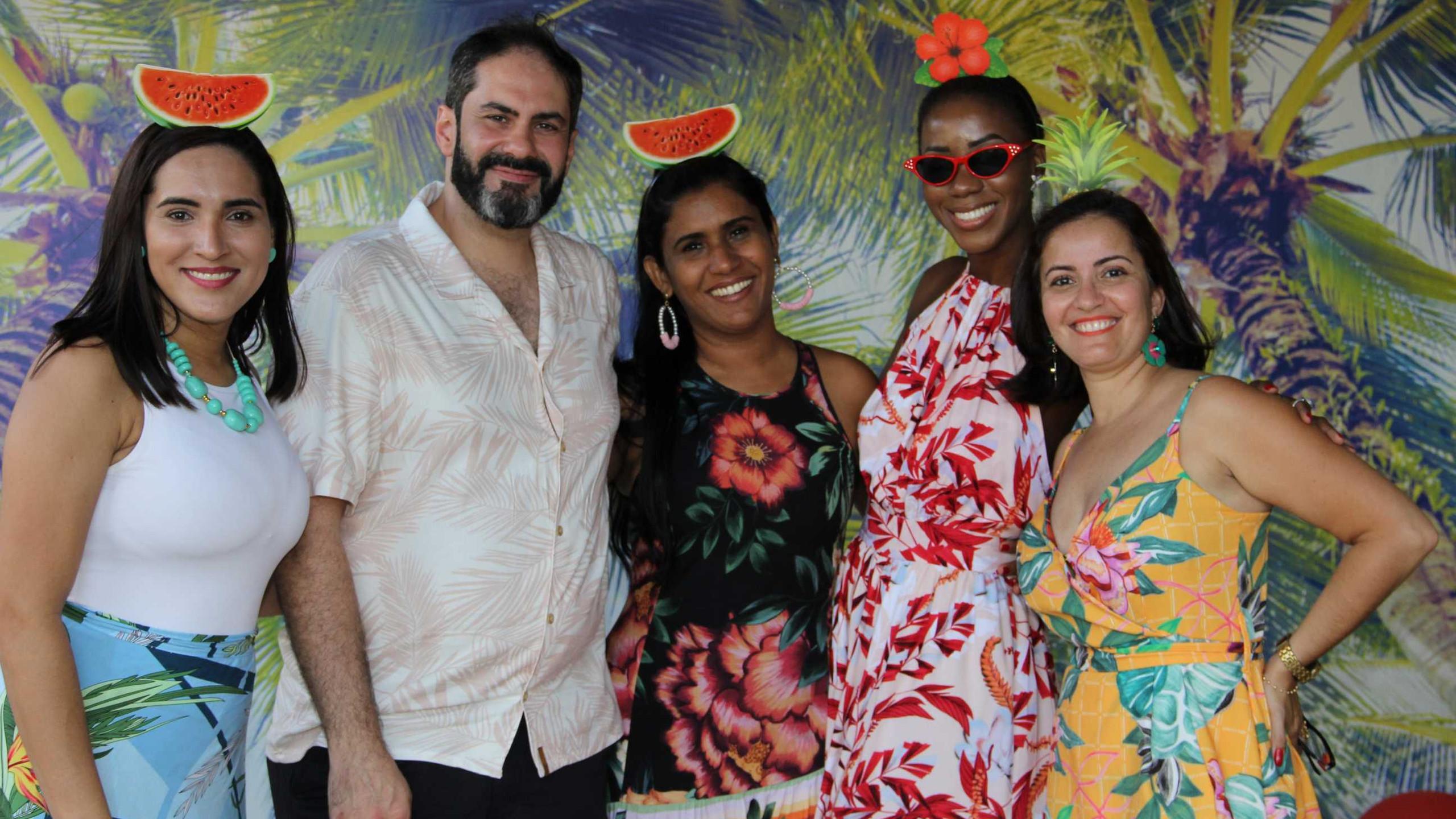 Equipe líder da TVN: Fernanda Cunha, Jefferson Bandeira, Walkíria Pinto, Fernanda Oliveira e Flávia Pessoa.