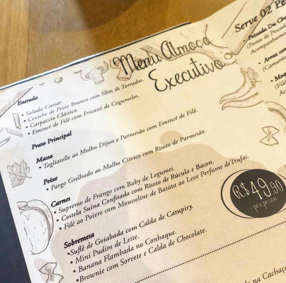 O Almoço Executivo da Villa do Vinho tem várias opções para entrada, prato principal e sobremesa; sempre de terça a domingo e por apenas R$ 49,90.