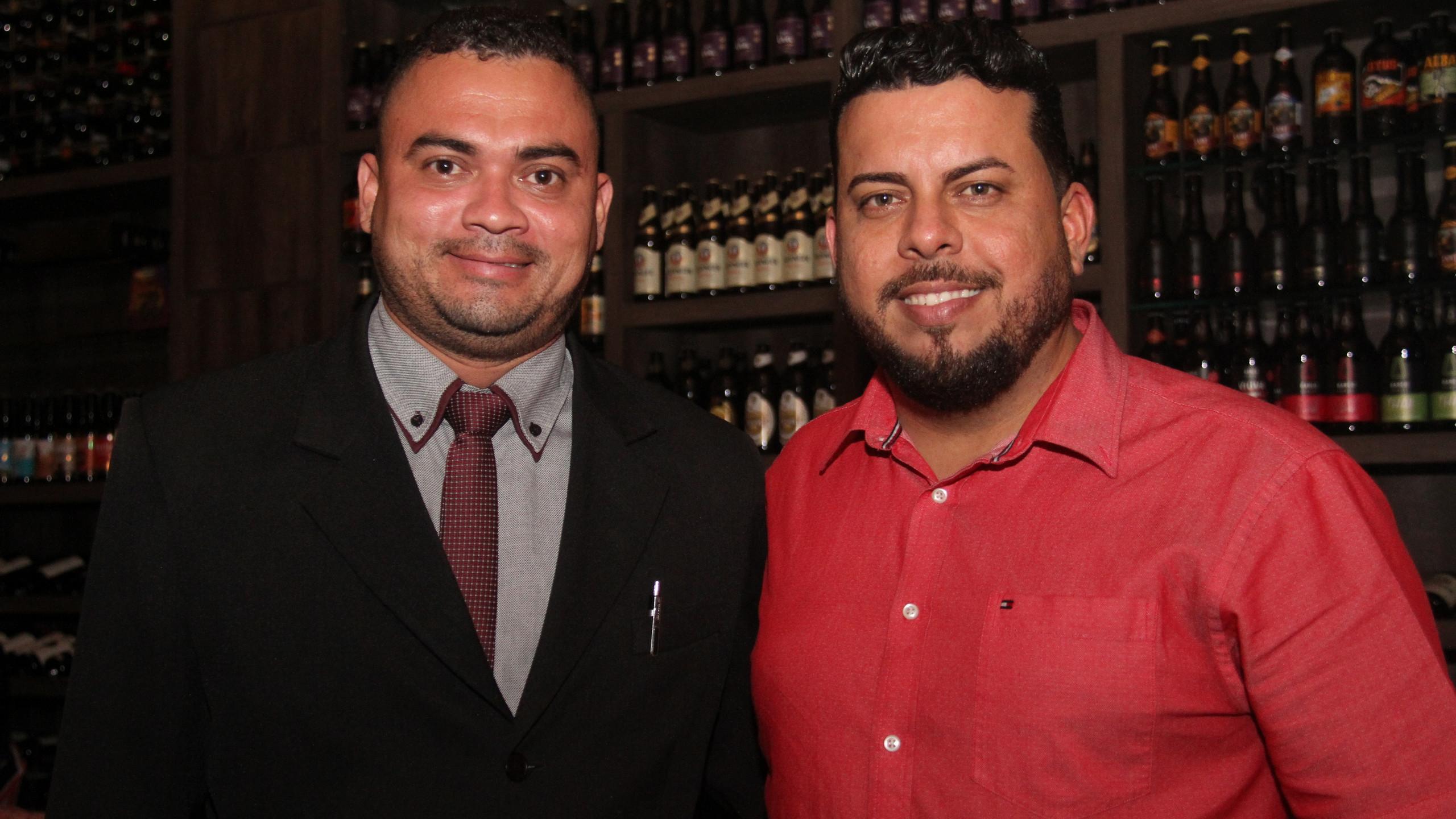 Luciano e Werther Bandeira, que comandaram a organização do evento na Villa do Vinho.