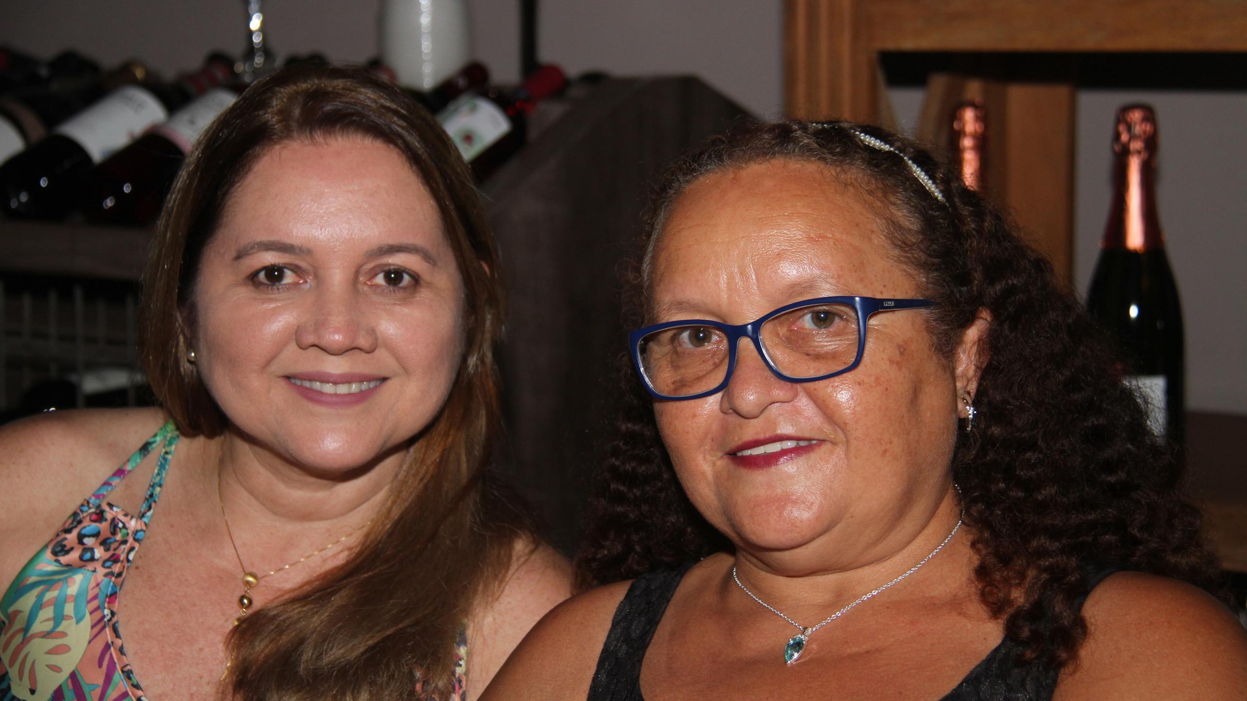 As tias do homenageado, Ester e Lídia Soares.