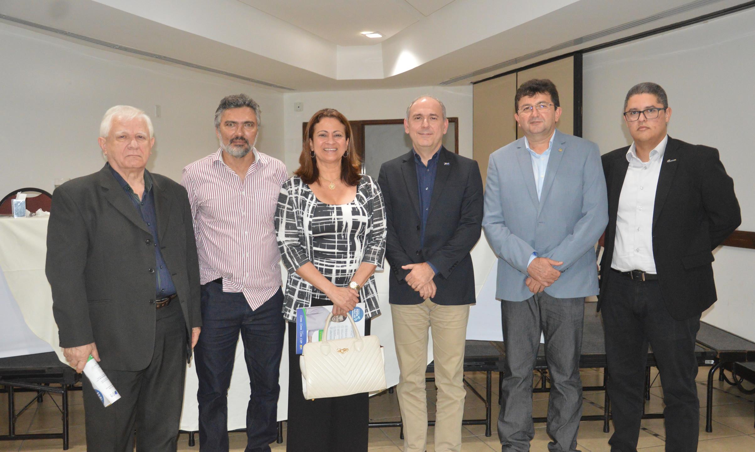 José Lopes, Nauro Muniz, Léa Silva, Fábio Ribeiro, João Conrado e Max Medeiros (Fecomércio)