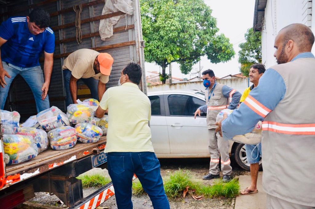 Os municípios de Pedreiras, Trizidela do Vale, São Luís Gonzaga, Pindaré Mirim e Nina Rodrigues receberam juntos mais de 14 toneladas de alimentos