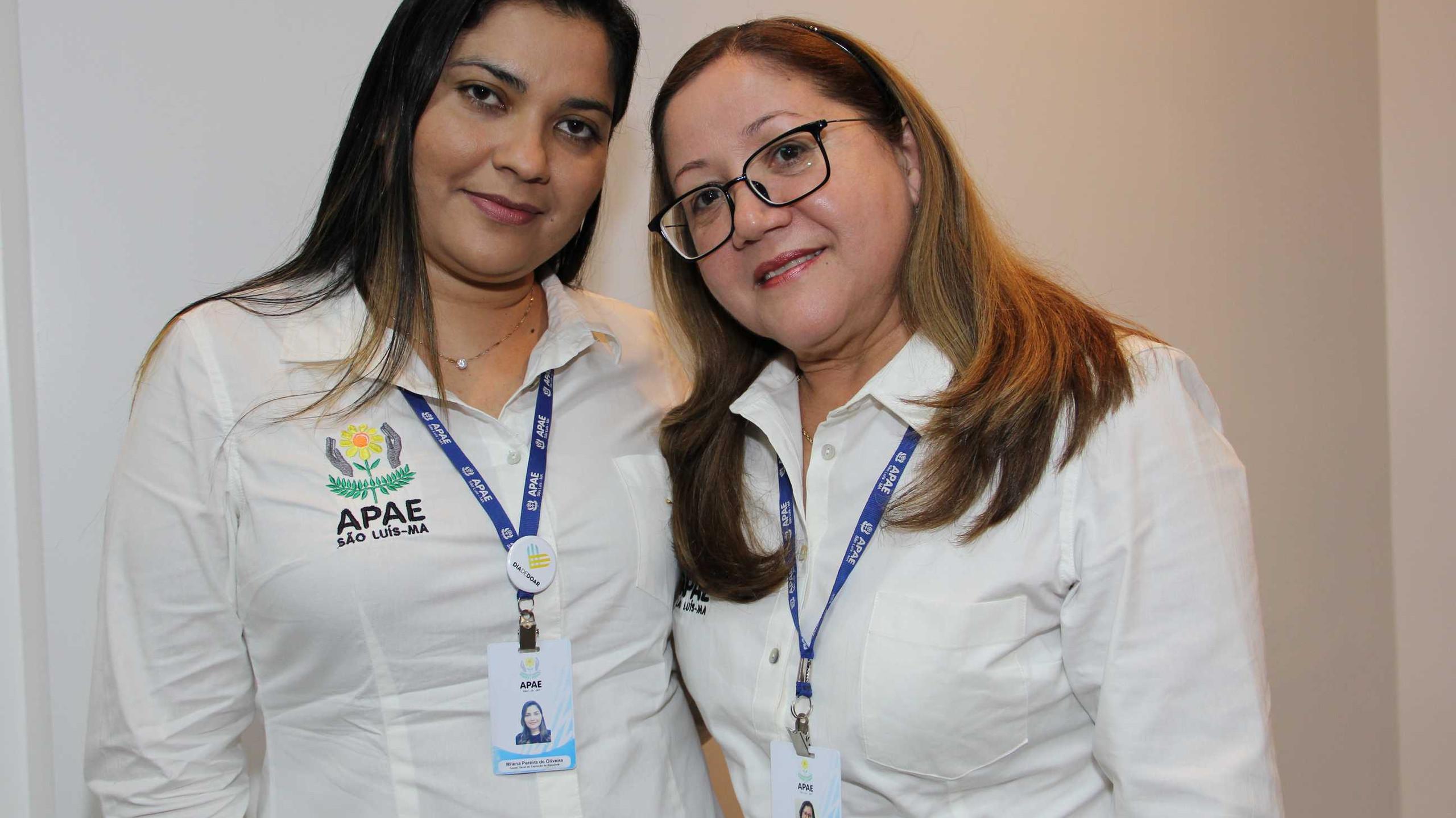 Milena Oliveira e Christiane Diniz da Apae São Luís.