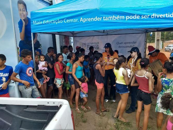 Comunidade na ação social em Cora Pau