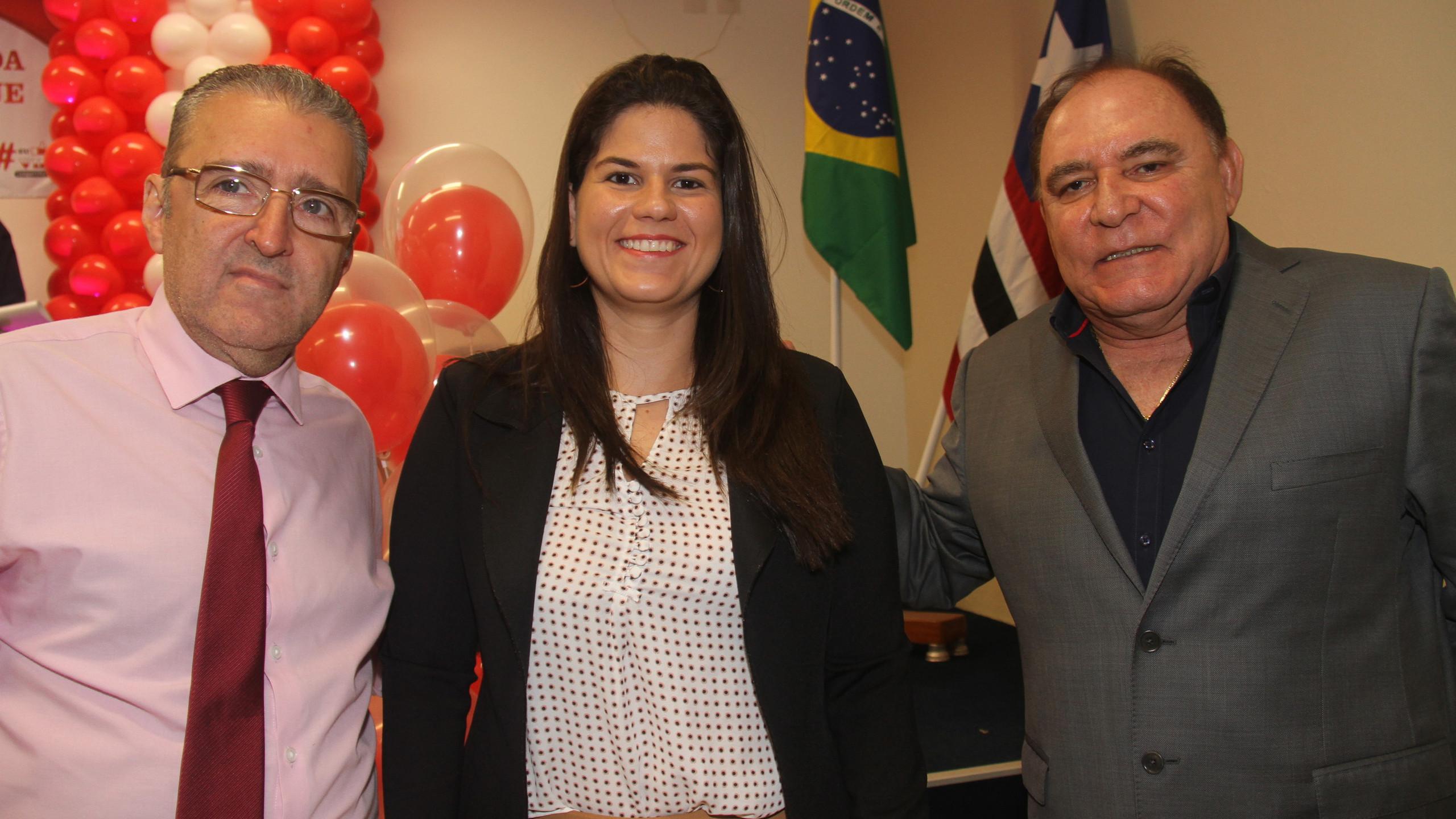 Plínio Tuzzolo (HSLZ), Amanda Sousa Costa (Segep) e o Pres. do Grupo Mercúrio Paulo Braid Ribeiro.
