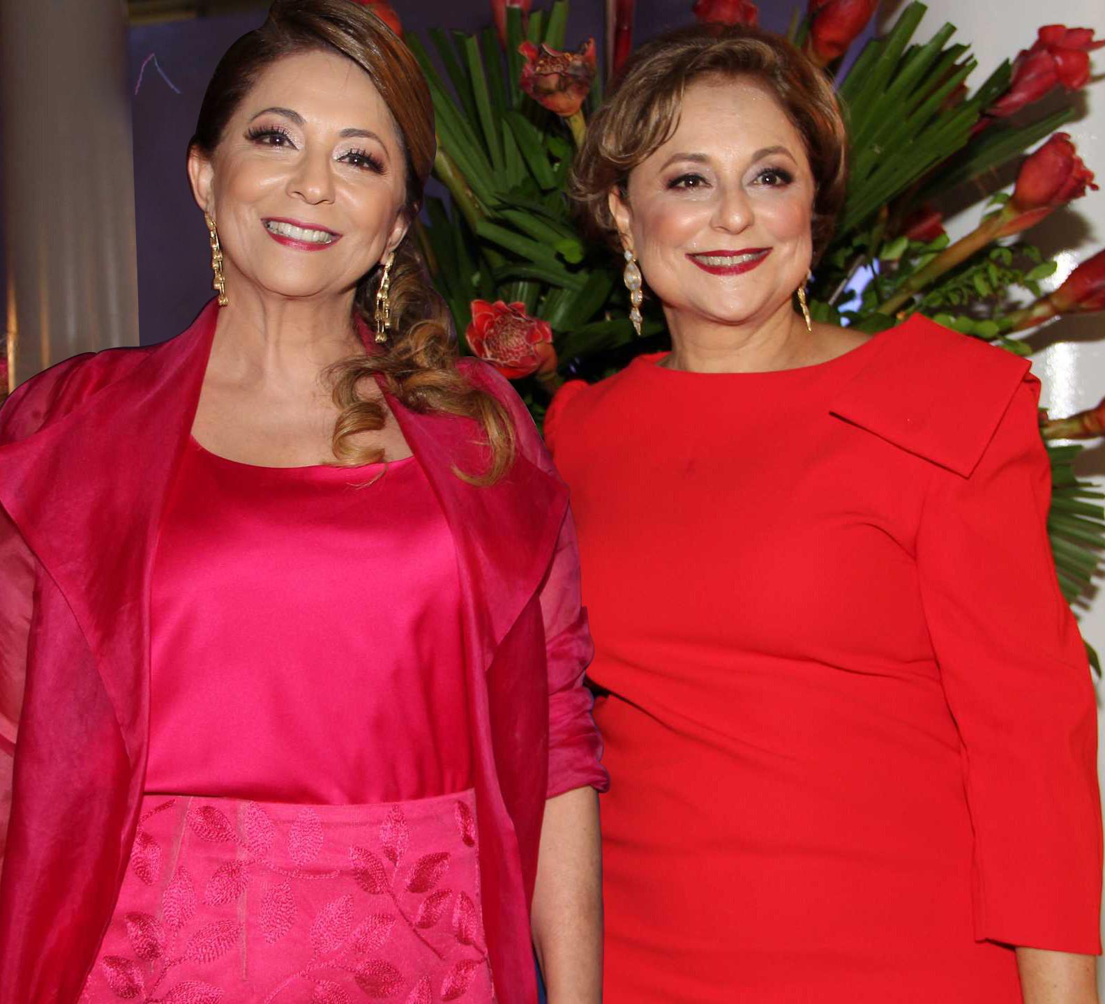 As educadoras Elizabeth Rodrigues e Ceres Murad.