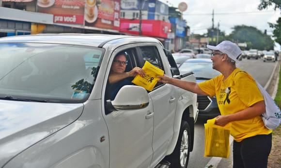 Maio Amarelo: Detran-MA realiza ação educativa em faixas de pedestres