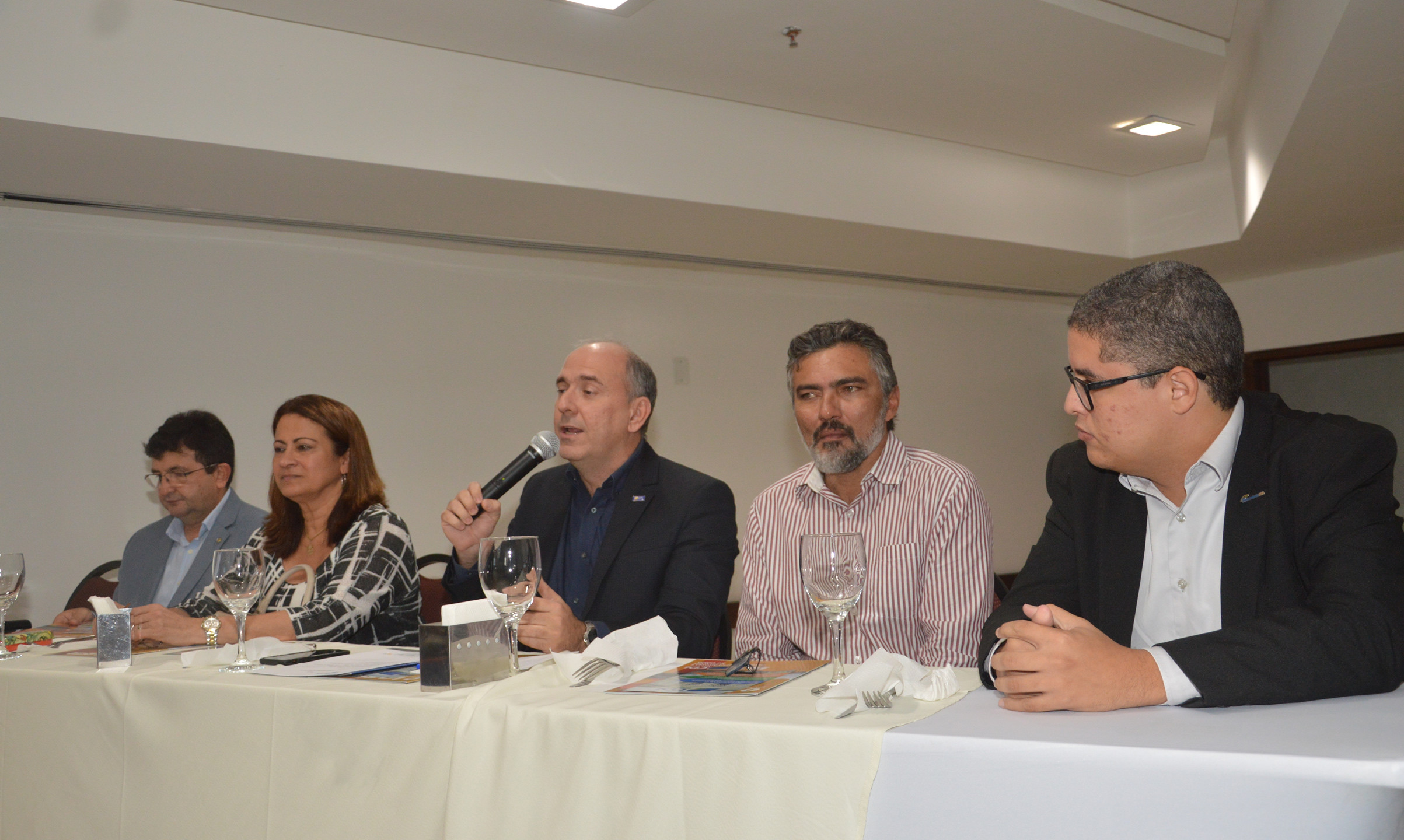 O palestrante convidado e  auditor do Ministério do Trabalho Nauro Muniz.