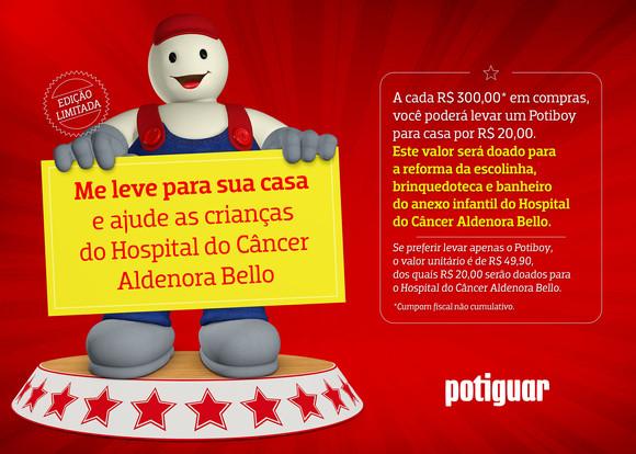MASCOTE SOLIDÁRIO EM BENEFÍCIO DO HOSPITAL ALDENORA BELO