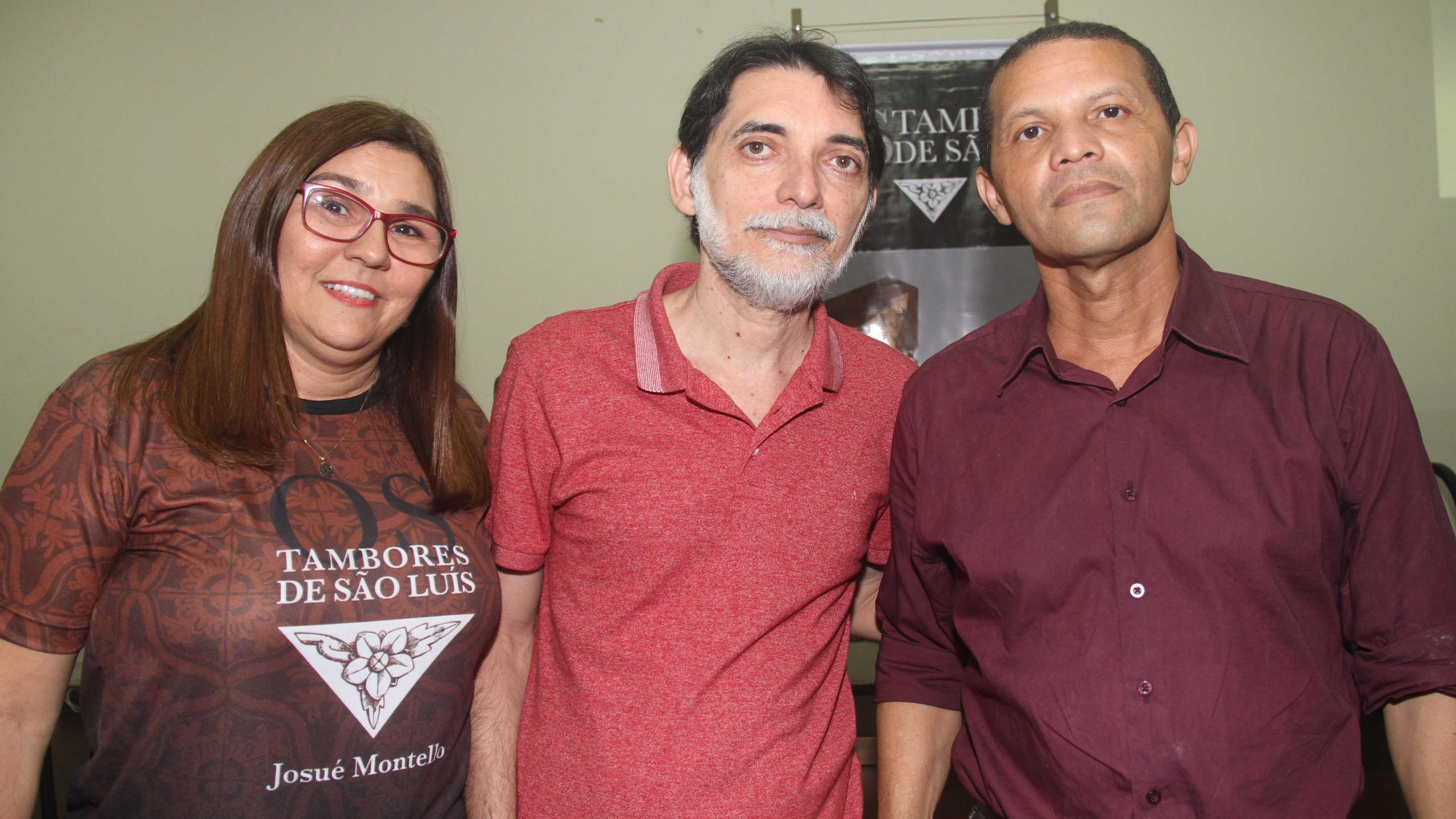 Joseane Souza, Wilson Marques e o escritor e palestrante Jose Neres, da Acad. MA de Letras