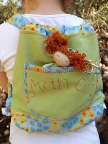 Moppetdolls_manon2, tiny pocket rag dolls, small cloth doll for school, comfort doll for stress