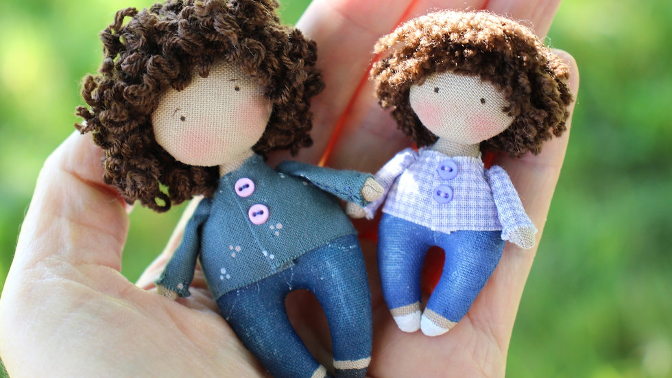 Personalized gift 1/12 scale miniature doll family