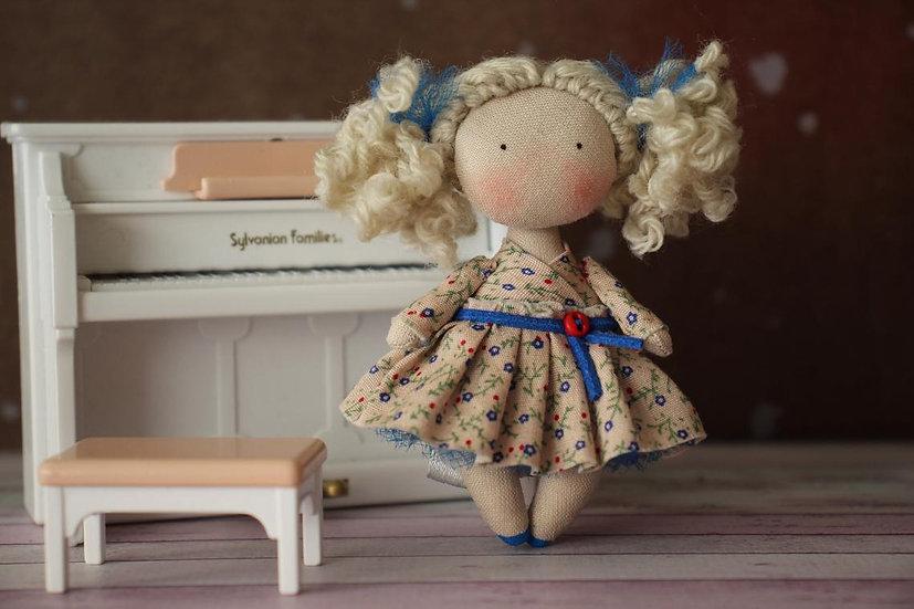 Rag doll mini doll miniature fabric doll collectible doll mom gift grandma gift best miniature dolls