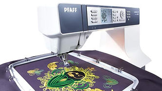 PFAFF_Sewing Machine Creative_d_reliable machine for sewing and embroidery. Lot of possibility to embroidery. Val Holmes well-known teacher and embroiderer
