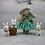 Conejos de resina en miniatura Conejito para casa de muñecas Conejos de dibujos animados para una muñeca de terrario