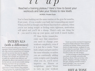 Reached a training plateau? (Your Fitness Magazine, Nov 2015)