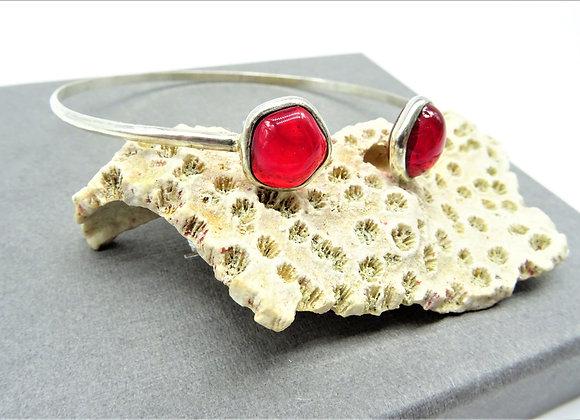Bracelet jonc Mini rubis