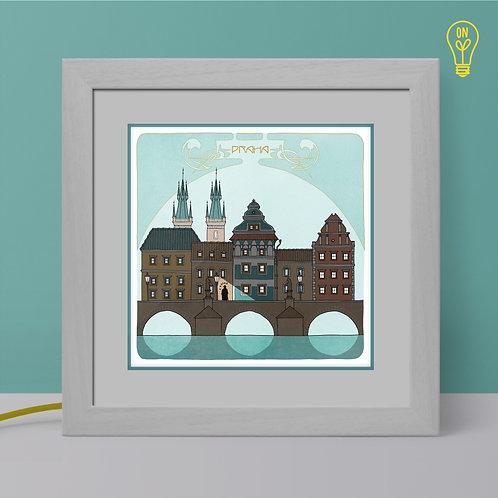 Prague Illustrated Light Box