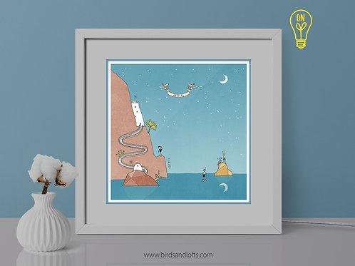 Amorgos Illustrated Lightbox