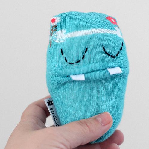 """""""Splash"""" Mini Soft Toy - Light blue / Stitched eyes"""