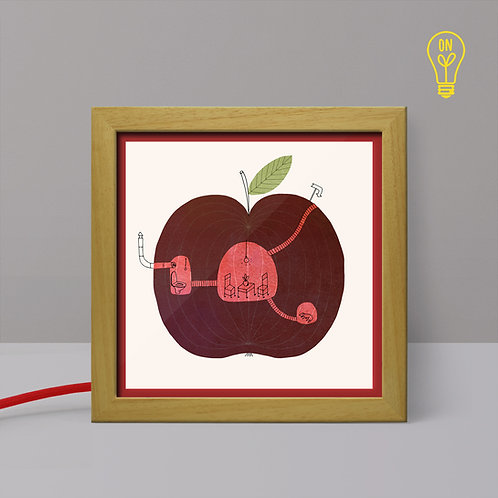 Apple House - Small Illustrated Light Box for Kids