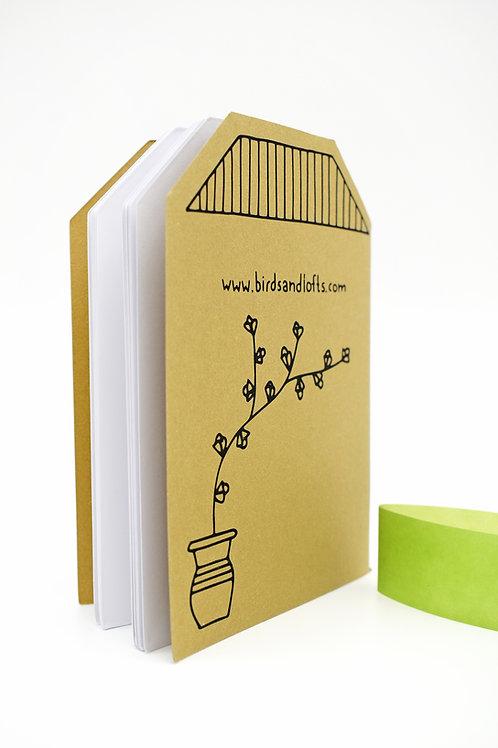 Corfu die cut notebook