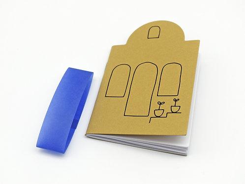 Cyclades die cut notebook