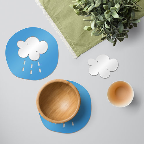 Fluffy Cloud colourful tableware set