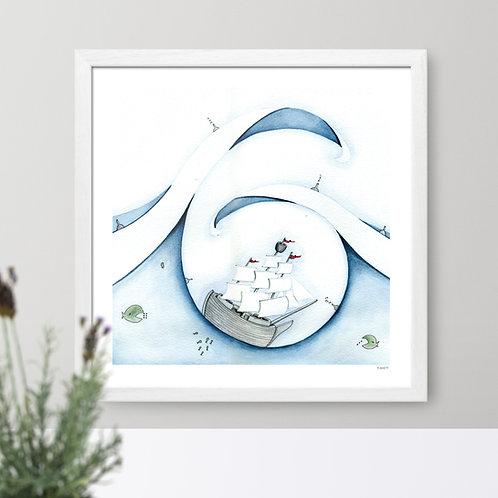 """The Ship"" print for kids' room"