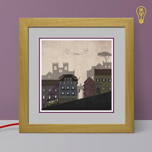 Lisbon Illustrated Light Box