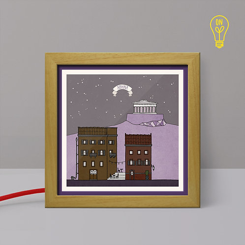 Athens #1 - Small Illustrated Light Box