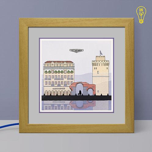 Thessaloniki Illustrated Light Box