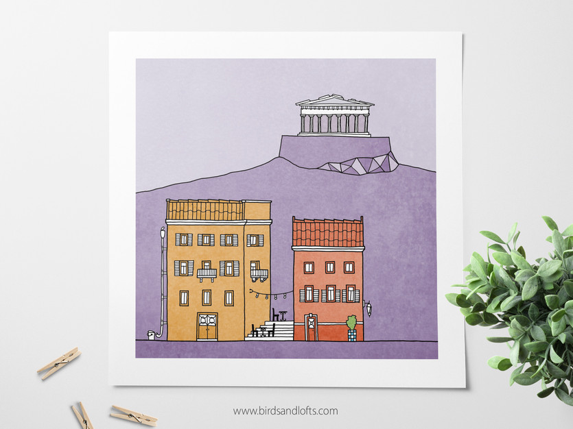 Athens Print by Birds & Lofts