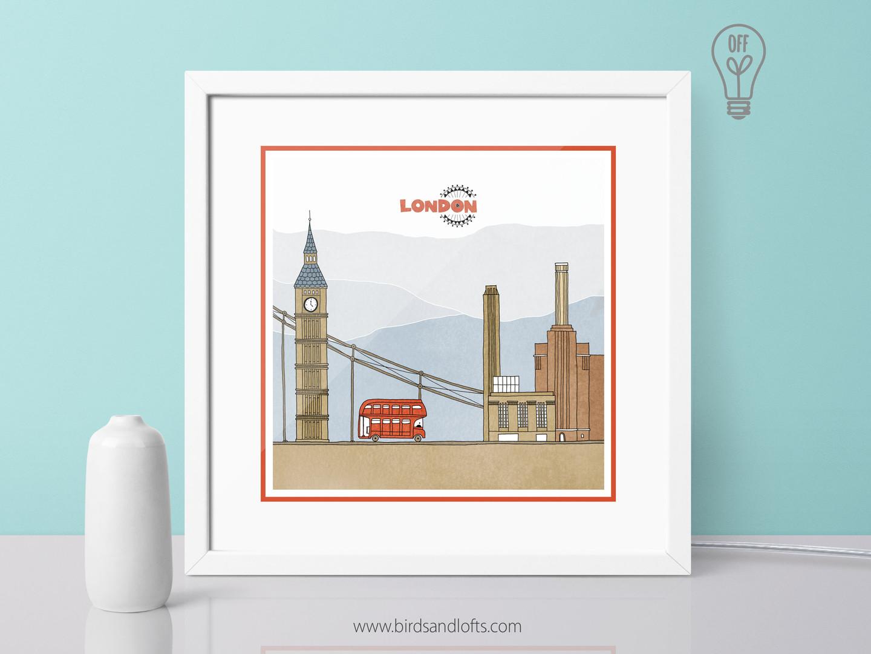 London Light Box - OFF