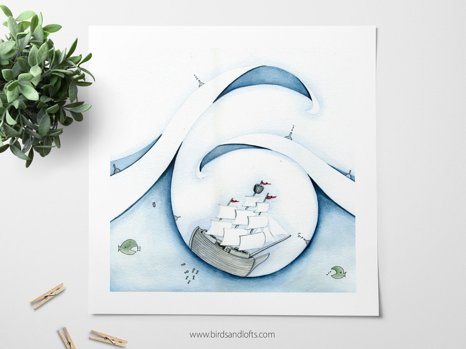 """The Ship"" Print"
