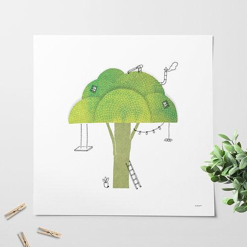 Broccoli print for kids' room