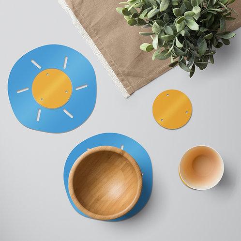 Bright Sun colourful tableware set