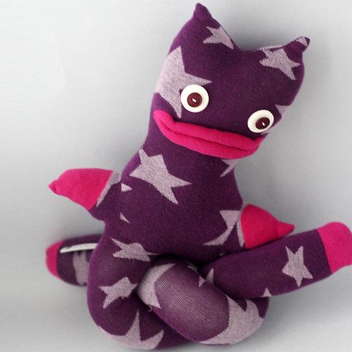 """Trik"" Longlegs Soft Toy - Purple & Fuchsia / Button eyes"