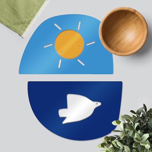 Sun & Dove colourful tableware set