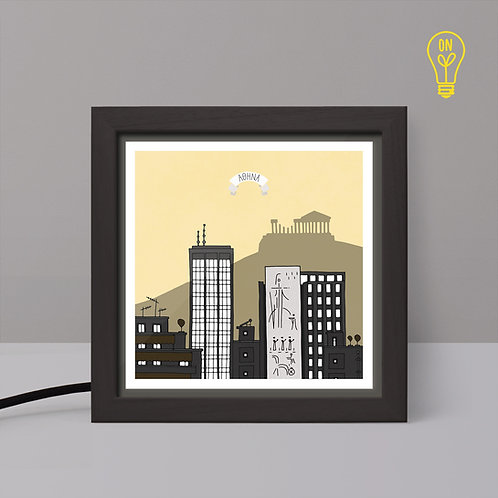 Athens #2 - Small Illustrated Light Box